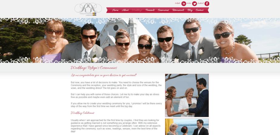 Robyns Weddings desktop